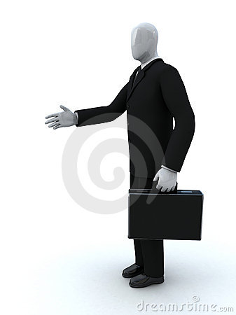 Businessman gives a hand