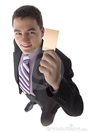 Businessman with gold card