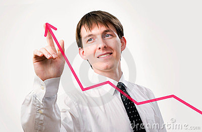 Businessman with a graph
