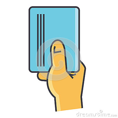 Free Businessman Hand Holding Empty Blank Paper Or Visit Card Concept. Stock Images - 98780884