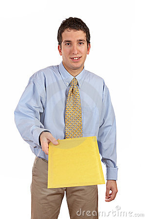 Free Businessman Handing A Envelope Stock Photography - 2443752