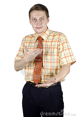 Businessman with hands gesture