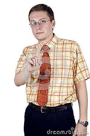 Businessman with hands gesture