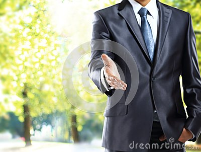 Businessman handshake gesture