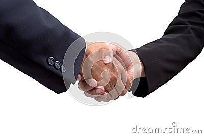 Businessman handshake