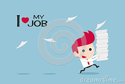 Businessman happy in job