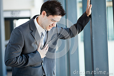 Businessman heart attack