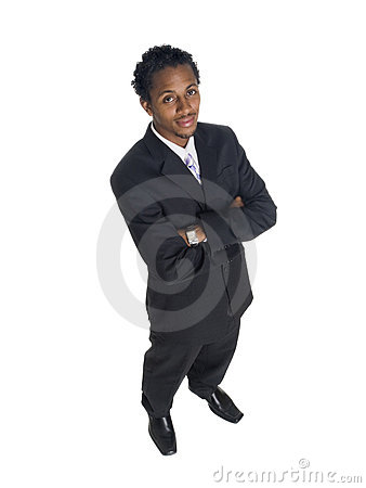 Businessman - high angle smile