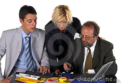 Businessman With His Partner