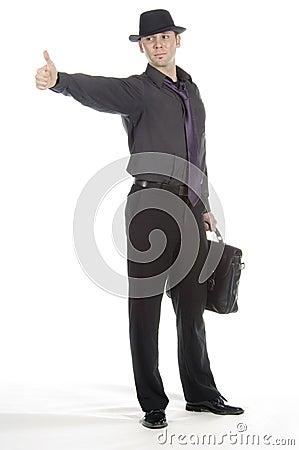 Free Businessman Hitch-hiking Stock Image - 599011