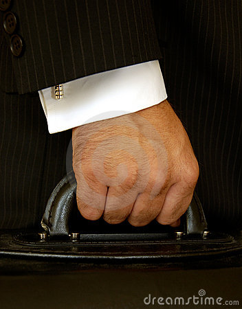 Free Businessman Holding Case Royalty Free Stock Images - 184909