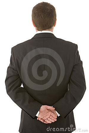 Free Businessman Holding His Hands Behind His Back Royalty Free Stock Photography - 6879607