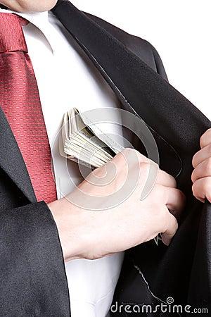 Free Businessman Holding Money Royalty Free Stock Image - 12354356