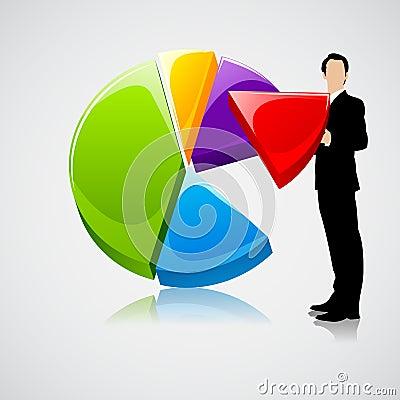 Businessman holding Profit Sharing