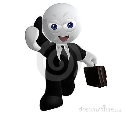 Businessman icon on the phone