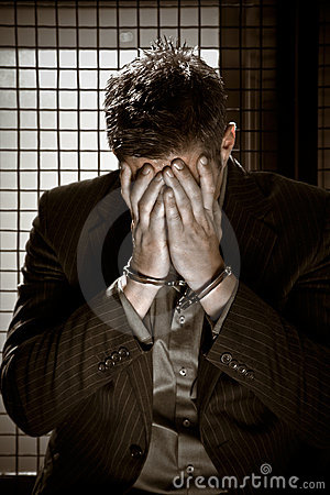 Free Businessman In Jail Stock Photos - 10089283