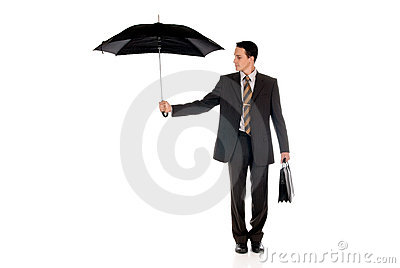 Businessman insurance agent