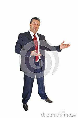 Free Businessman Inviting. Stock Photo - 35356920