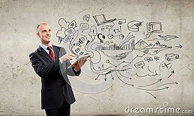 Businessman with ipad