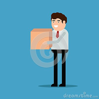 Free Businessman Is Carrying A Box Royalty Free Stock Photo - 118277385