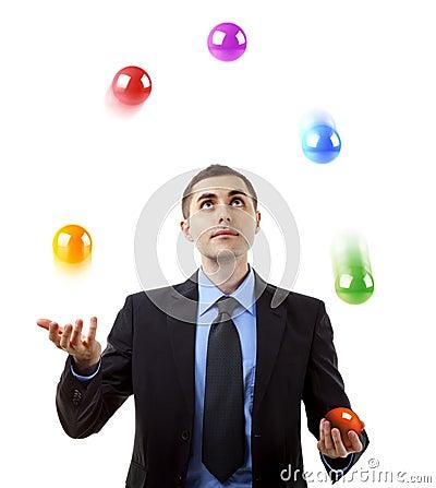 Free Businessman Juggling Royalty Free Stock Image - 16088456
