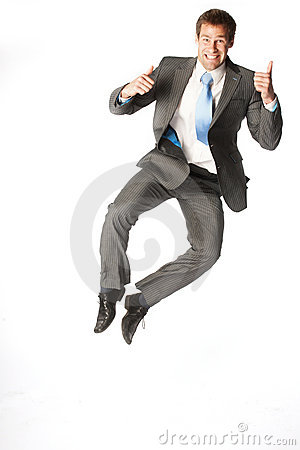 Businessman jump