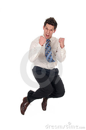Free Businessman Jumping Royalty Free Stock Photography - 1620177
