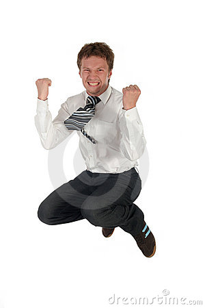 Free Businessman Jumping Royalty Free Stock Image - 979676