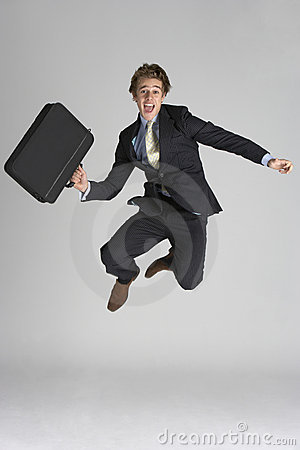 Free Businessman Jumping In Air Royalty Free Stock Photography - 12407017
