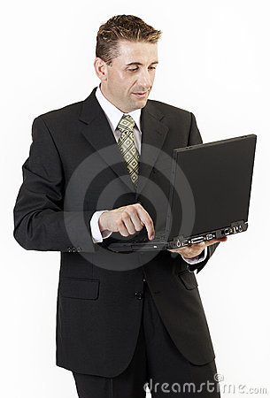 Businessman laptop 2