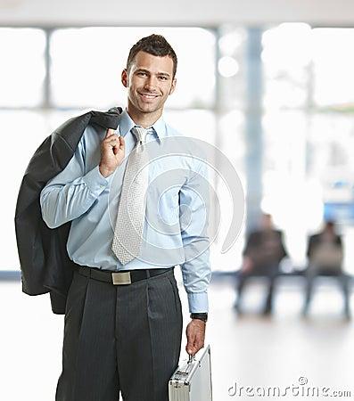 Free Businessman Leaving Office Stock Photo - 18040150