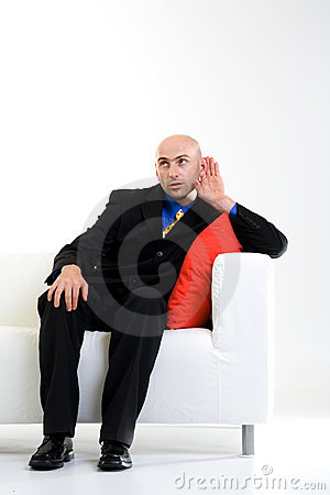 Free Businessman Listening Royalty Free Stock Photos - 2984938
