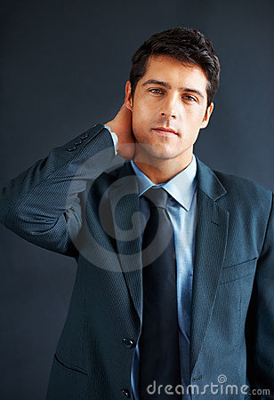 Businessman looking worried