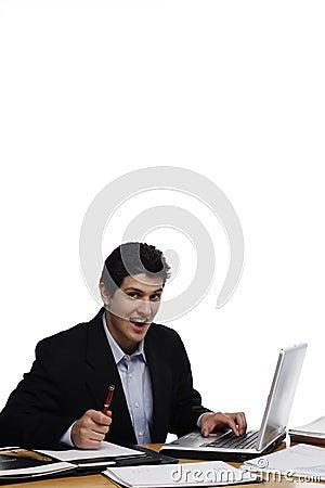Businessman Looking at You, Suprised