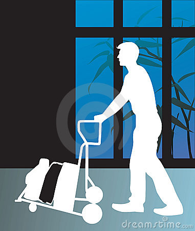 Businessman and luggage