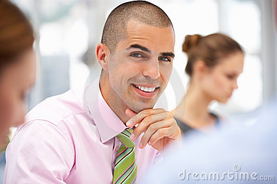 Businessman in meeting