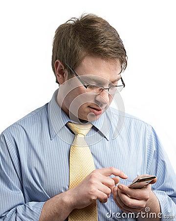 Businessman Mobile Communication