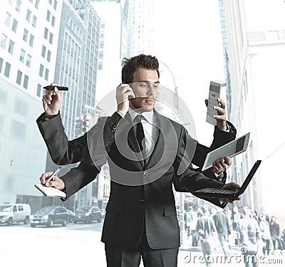 Free Businessman Multitasking Stock Photos - 25641023