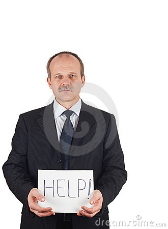 Businessman needs help