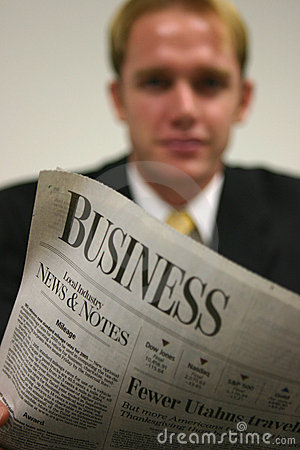 Businessman with Newspaper