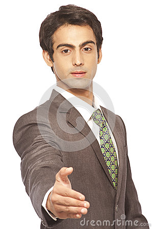 Businessman offering Handshake