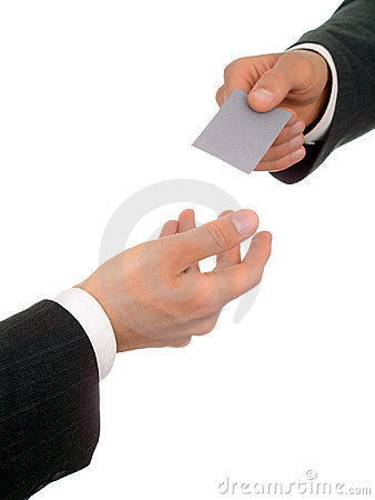 Free Businessman Offering His Business Card Royalty Free Stock Photos - 224298