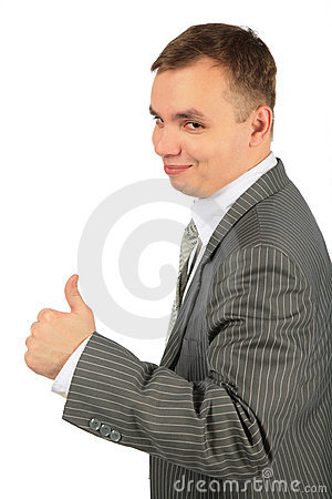 Businessman with ok gesture