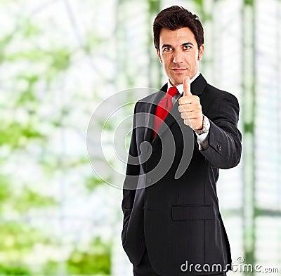 Businessman ok sign