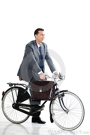 Businessman With Old-Fashioned Bicycle