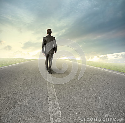Free Businessman On His Way Royalty Free Stock Photos - 25989918
