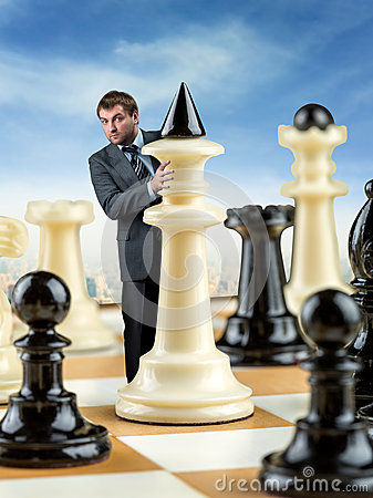 Free Businessman On The Chess Board Stock Photography - 69989382