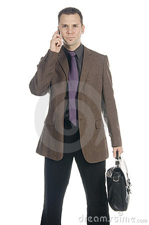 Free Businessman On The Phone Royalty Free Stock Photo - 598475