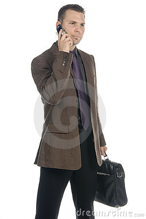 Free Businessman On The Phone Royalty Free Stock Photos - 598478