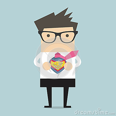 Free Businessman Opening Shirt In Superhero Style Royalty Free Stock Images - 49333209